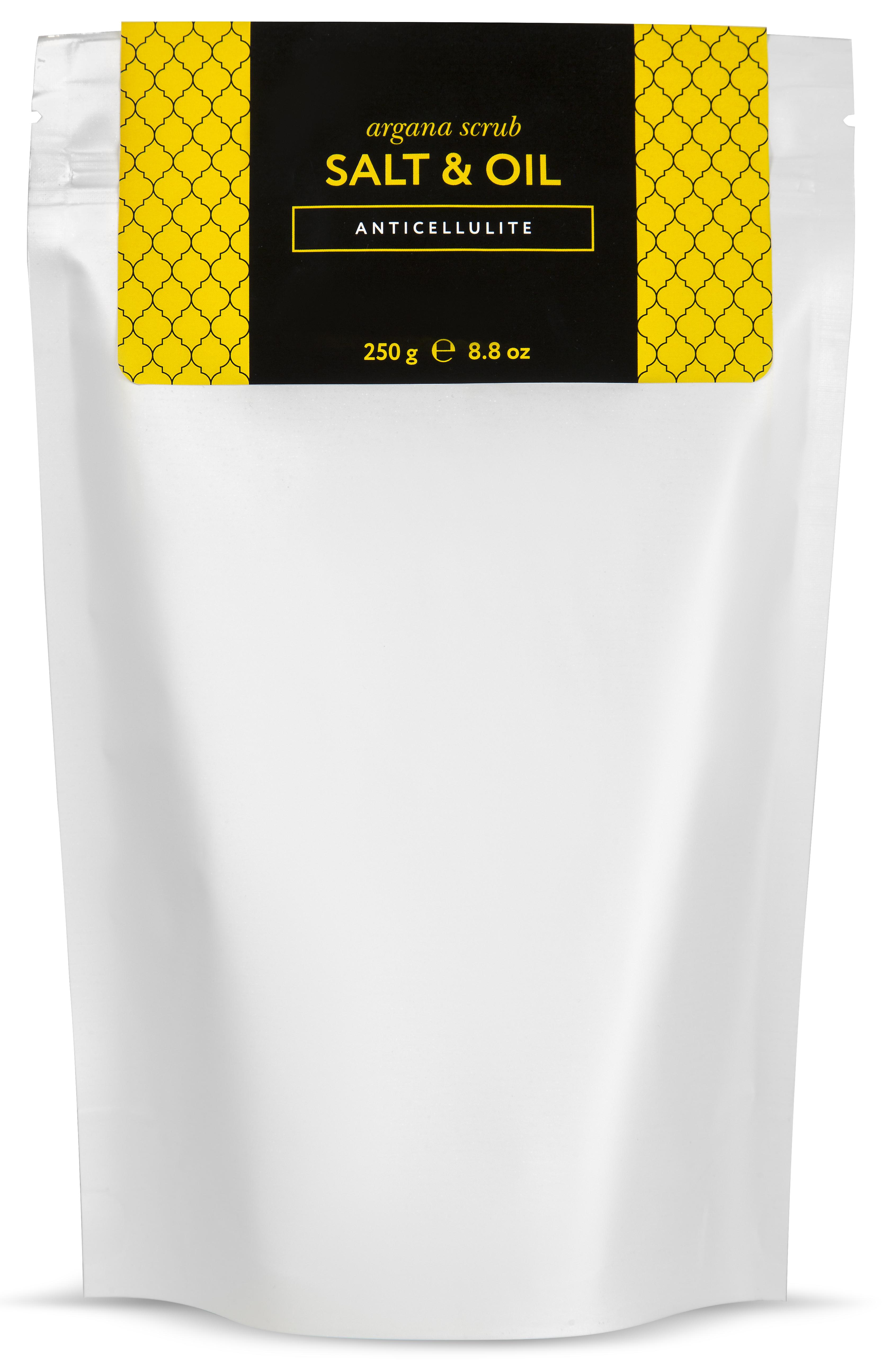 HUILARGAN Скраб аргановый солевой для тела, антицеллюлит 250 г