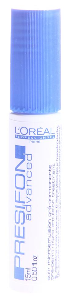 LOREAL PROFESSIONNEL Уход-концентрат перед химической завивкой Презифон Эдванст 1*15мл~Концентраты<br>Презифон Эдванст - это защищающий уход перед долговременной укладкой и долговременным разглаживанием волос. Средство выравнивает и укрепляет поверхность волоса, уменьшает пористость, обеспечивает легкое накручивание волос на бигуди и легкое расчесывание. Волосы становятся эластичными, мягкими на ощупь, блестящими. В составе - специальные полимеры для тонуса локонов.  Способ применения: Втереть во влажные, отжатые волосы, вымытые шампунем Оптимальный Очищающий непосредственно перед накручиванием на бигуди. Не смывать.<br><br>Вид средства для волос: Очищающий<br>Типы волос: Нормальные