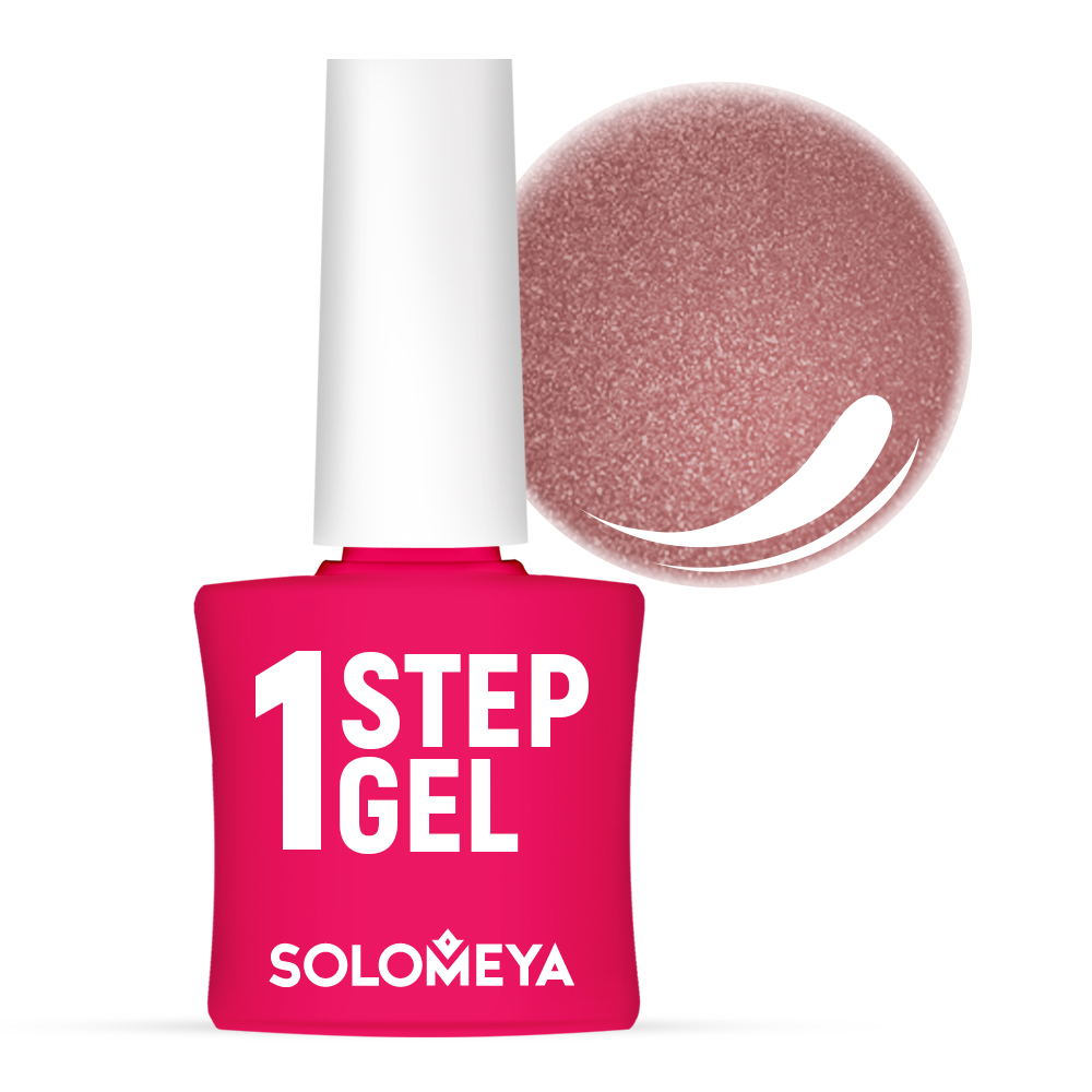 Купить SOLOMEYA Гель-лак однофазный для ногтей, 41 бейлиз / One Step Gel Bailey 5 мл