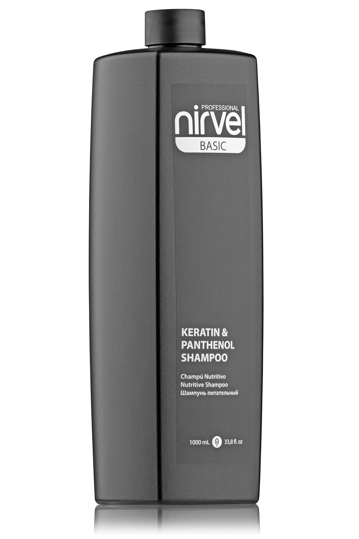 Купить NIRVEL PROFESSIONAL Шампунь питательный с кератином и пантенолом для сухих, ломких и поврежденных волос / KERATIN & PANTHENOL SHAMPOO 1000 мл