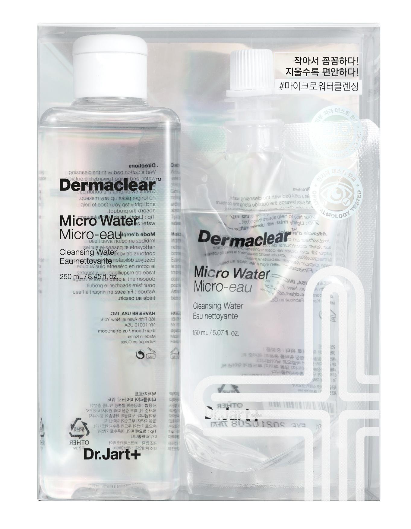 DR. JART+ Микро-вода биоводородная для очищения и тонизирования кожи / Dermaclear 250 мл + 150 мл