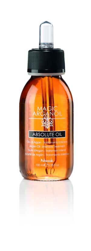 NOOK Эликсир для волос Магия Арганы Абсолют / Absolute Oil MAGIC ARGANOIL 100 млЭликсиры<br>Питательный эликсир для волос на основе масел Арганы, Макадамии и протеинов Шелка. Специальное средство для глубокой регенерации поврежденных волос. Придает больше эластичности, блеска, силы и жизненной энергии. Обладает выраженным anti-frizz эффектом, используется на любых волосах, не утяжеляя их. Активные ингредиенты: циклопентасилоксан, масло арганы, масло макадамии, кератин, протеин шелка, масло ниамплунг, молочко монои<br><br>Вид средства для волос: Питательный<br>Типы волос: Поврежденные