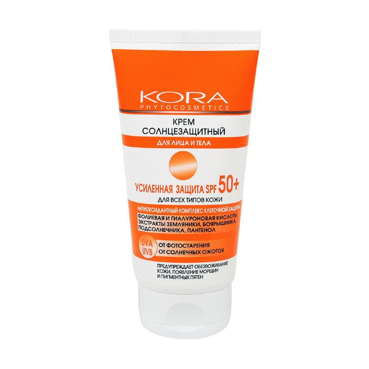Купить KORA Крем солнцезащитный для лица и тела SPF 50+ 150 мл