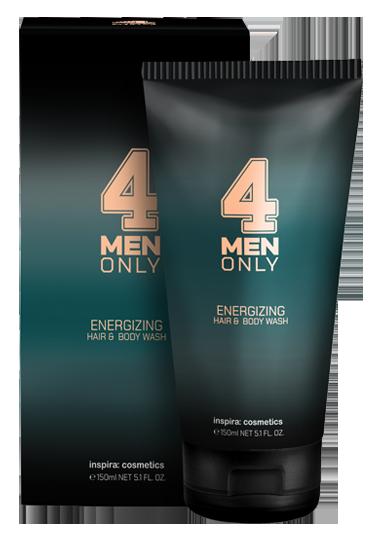 Купить INSPIRA COSMETICS Гель очищающий тонизирующий для волос и тела / 4 Men Only 150 мл