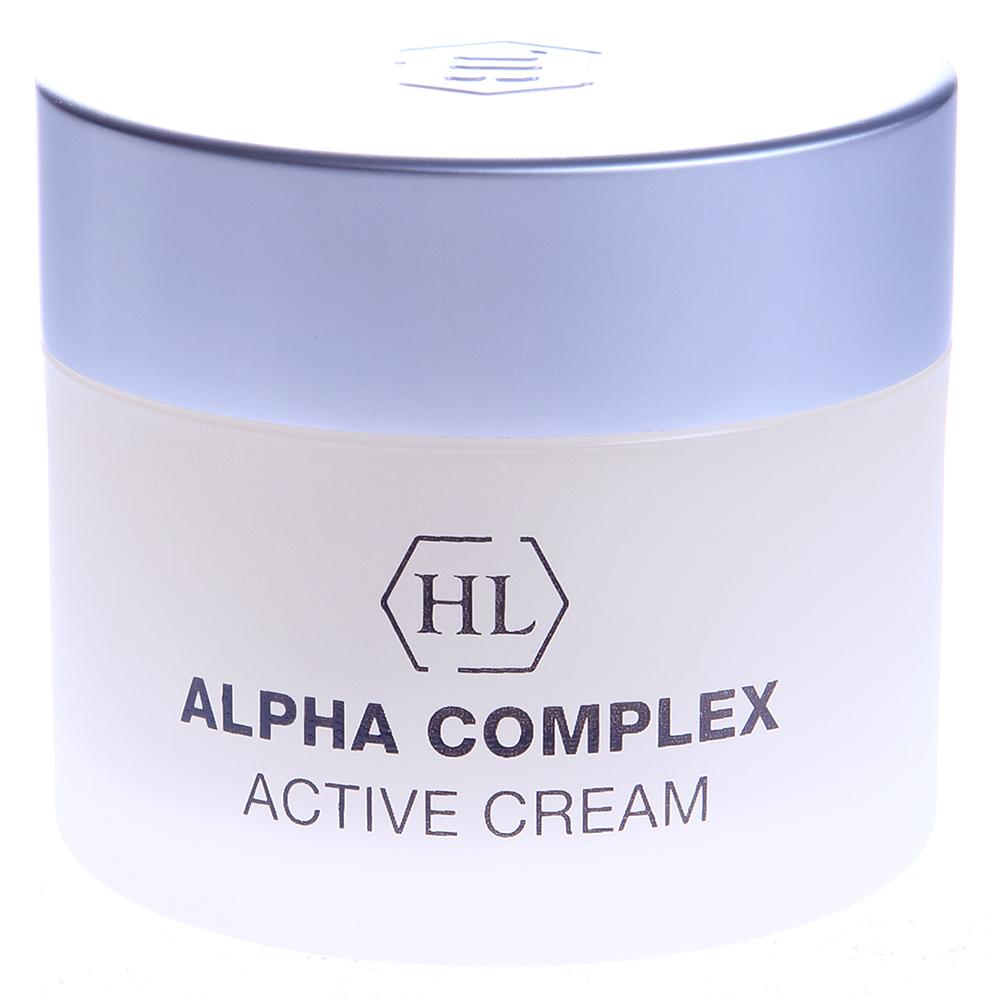 HOLY LAND Крем активный / Active Cream ALPHA COMPLEX 50млКремы<br>Интенсивный крем для выравнивания поверхности кожи. Применяется вечером и в часы отдыха. Восстановление кожи.  Сокращение пор.  При регулярном применении &amp;mdash; выравнивание текстуры и цвета кожи, осветление пигментаций.  Активные ингредиенты: Комплекс фруктовых кислот (молочная, гликолевая, лимонная, яблочная, винная), гидролизованный альбумин. Гидролизованный казеин великолепно увлажняет, питает, смягчает и разглаживает кожу, повышает ее упругость и эластичность, активизирует репаративные процессы. Способ применения: Крем используется вечером после очищения кожи, а также утром перед дневным кремом при повышенной сухости кожи.<br><br>Объем: 50<br>Вид средства для лица: Фруктовый