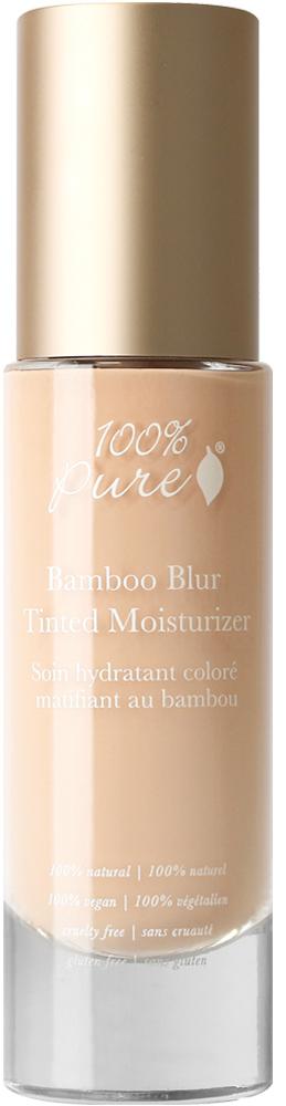 100% PURE Крем тональный матирующий для лица Бамбук, белый персик 50 мл