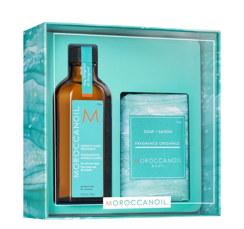Купить MOROCCANOIL Набор Home & Away (восстанавливающее средство 100 мл, мыло 200 г) REPAIR Original