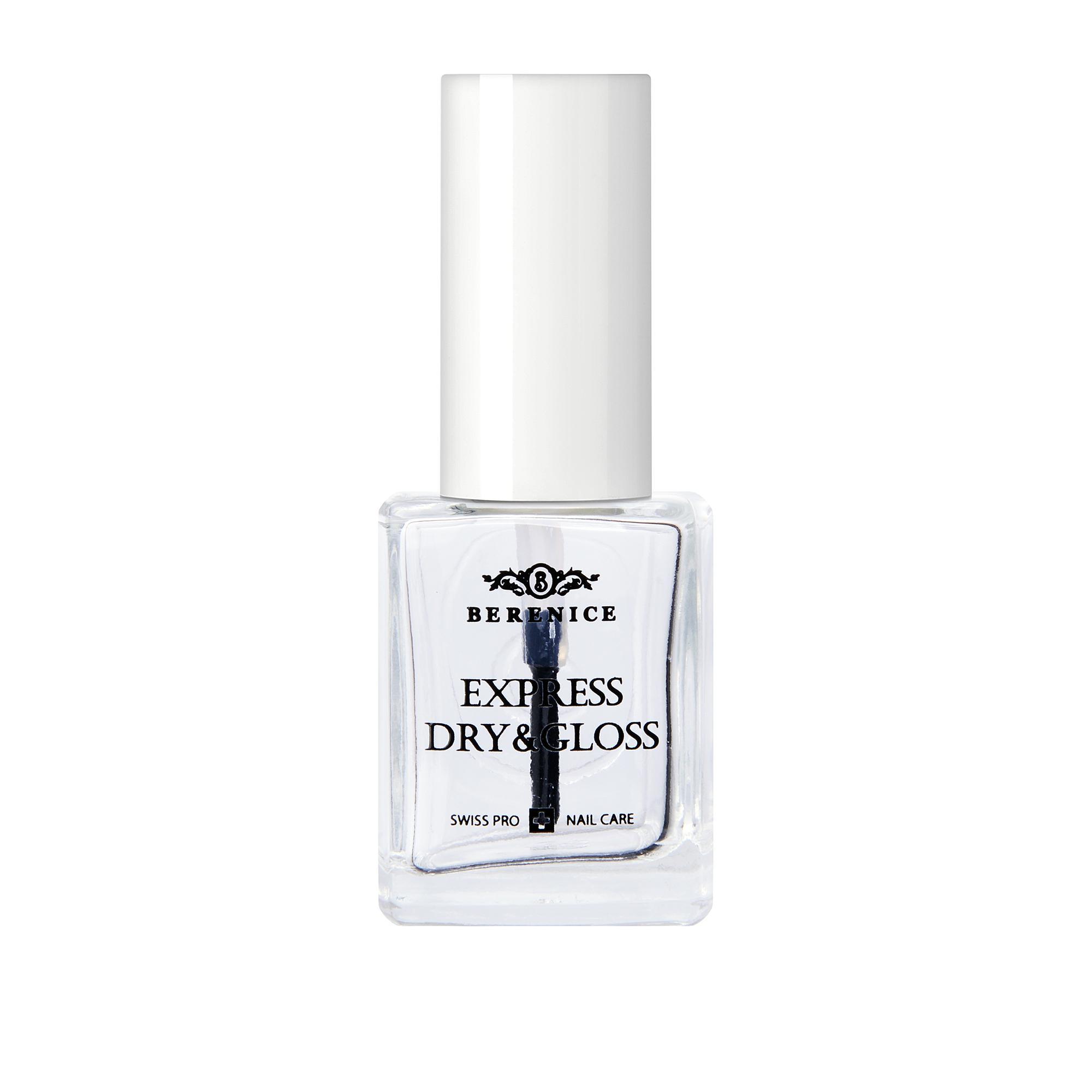 BERENICE Экспресс-покрытие 2 в 1 (сушка + блеск) / Express dry & gloss 16 мл -  Сушки