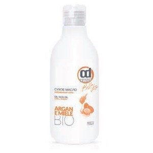 CONSTANT DELIGHT Масло сухое жизненная сила / MIELE 250 млМасла<br>Реструктурирующее масло для ломких и ослабленных волос. Делает их более блестящими и придает дополнительный объем. Биологические активные компоненты масло Арганы и Мед питают структуру волос и делают их более упругими. Сухое масло оказывает легкий фиксирующий эффект, а на сухих волосах создает эффект  мокрых волос . Не утяжеляет и не жирнит волосы. Способ применения: нанесите необходимое количество сухого масла на волосы, более равномерно распределите его по всей длине, затем приступить к моделированию укладки.<br><br>Объем: 250 мл