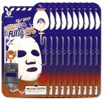 Купить ELIZAVECCA Маска тканевая с эпидермальным фактором роста для лица / EGF Deep Power Ringer Mask Pack 10 шт