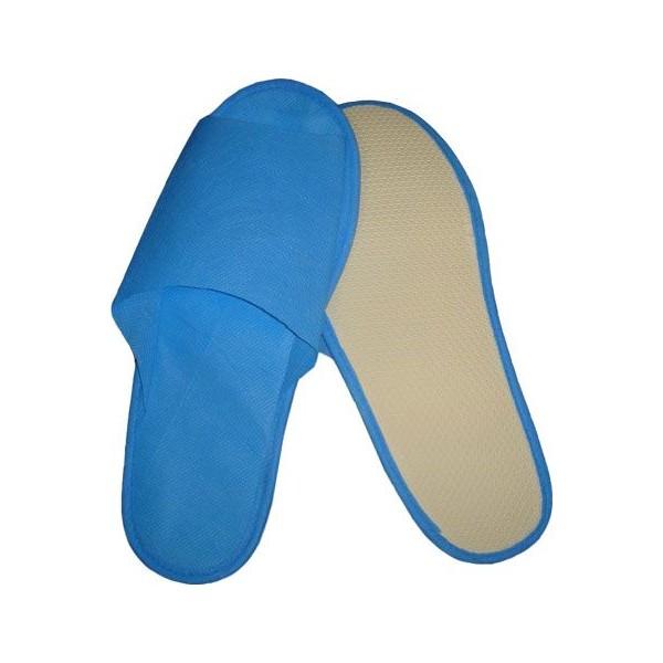 ЧИСТОВЬЕ Тапочки на жесткой антискользящей подошве с открытым мысом (мужские) 1параТапочки<br>Удобные тапочки на жесткой антискользящей подошве. Высота подошвы: 5 мм. Материал: спанбонд, картон.<br>