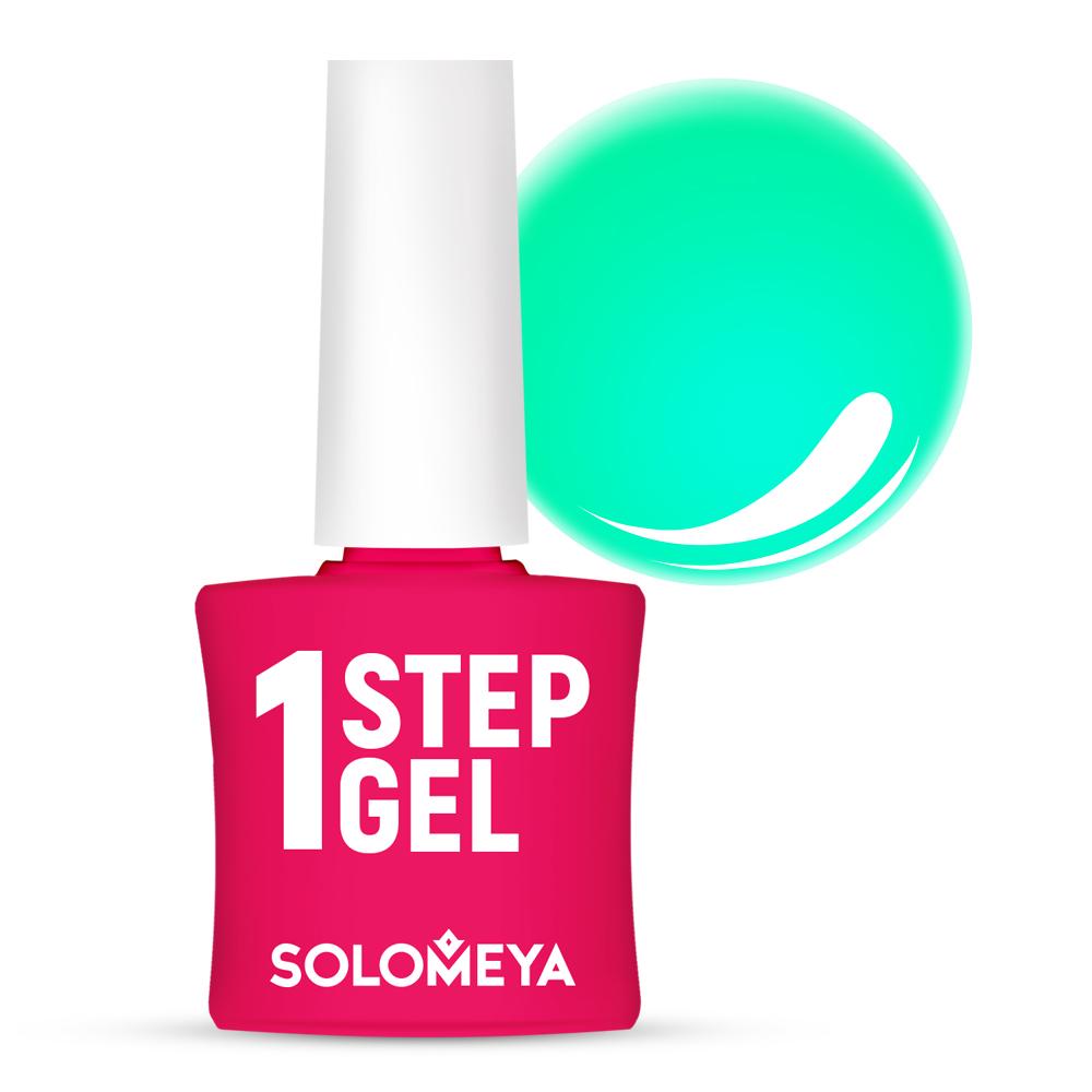 Купить SOLOMEYA Гель-лак однофазный для ногтей, 12 мята / One Step Gel Mint 5 мл, Зеленые