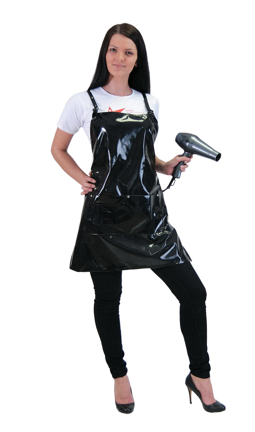 HAIRWAY Фартук MF черный лаковыйФартуки<br>Hairway Фартук лаковый. Цвет: черный. Размер: 62х71 см. Изготовлен из нейлоновой, водонепроницаемой ткани.<br>