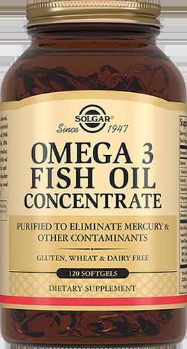 SOLGAR Концентрат рыбьего жира Омега-3, капсулы № 120