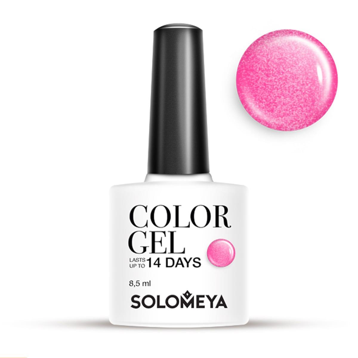 Купить SOLOMEYA Гель-лак для ногтей SCG126 Клубника / Color Gel Strawberry 8, 5 мл, Розовые