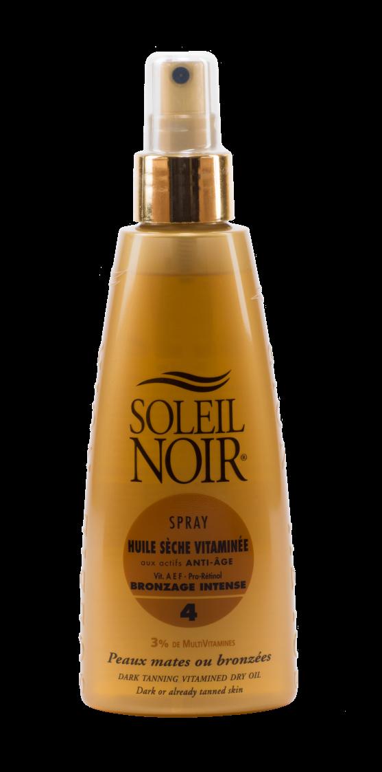SOLEIL NOIR Масло спрей сухое антивозрастное витамин. Интенсивный загар SPF4 / HULE SECHE VITAMINEE 150мл