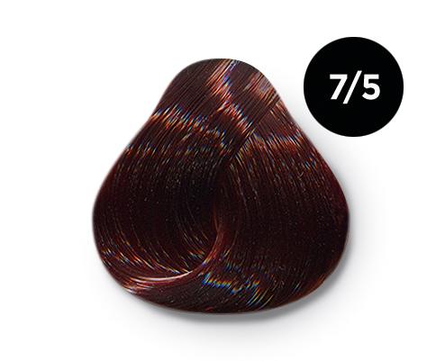 Купить OLLIN PROFESSIONAL 7/5 краска для волос, русый махагоновый / OLLIN COLOR 100 мл