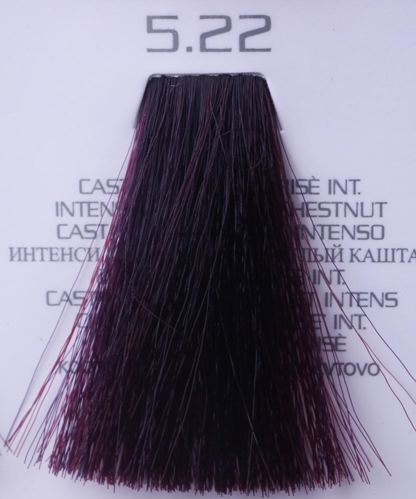 HAIR COMPANY 5.22 краска для волос / HAIR LIGHT CREMA COLORANTE 100млКраски<br>5.22 интенсивный искрящийся светлый каштанHair Light Crema Colorante   профессиональный перманентный краситель для волос, содержащий в своем составе натуральные ингредиенты и в особенности эксклюзивный мультивитаминный восстанавливающий комплекс. Минимальное количество аммиака позволяет максимально бережно относится к структуре волоса во время окрашивания. Содержит в себе растительные экстракты вытяжку из арахиса, лецитин, витамин А и Е, а так же витамин С который является природным консервантом цвета. Применение исключительно активных ингредиентов и пигментов высокого качества гарантируют получение однородного, насыщенного, интенсивного и искрящегося оттенка. Великолепно дает возможность на 100% закрасить даже стекловидную седину. Наличие 6-ти микстонов, а так же нейтрального бесцветного микстона, позволяет достигать получения цветов и оттенков. Способ применения: смешать Hair Light Crema Colorante с Hair Light Emulsione Ossidante в пропорции 1:1,5. Время воздействия 30-45 мин.<br><br>Вид средства для волос: Восстанавливающий<br>Класс косметики: Профессиональная