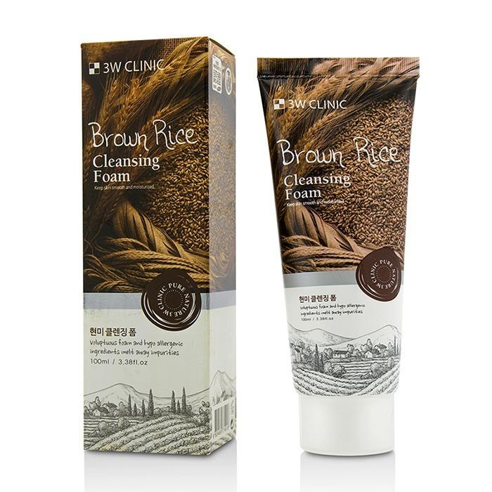 Купить 3W CLINIC Пенка для умывания с коричневым рисом / Foam Cleansing 100 мл