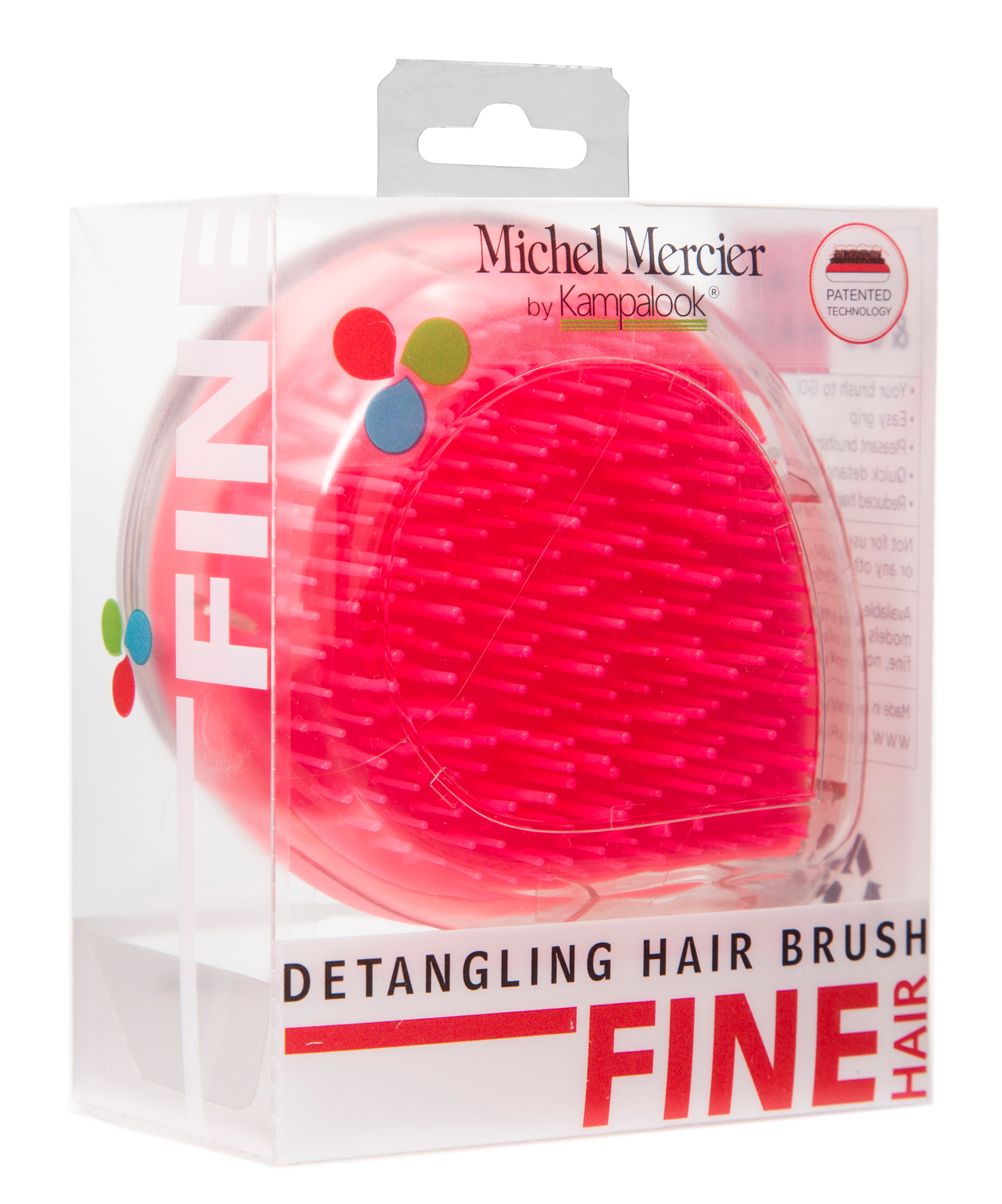 MICHEL MERCIER Щетка компактная для тонких волос / Travel Detangling Brush for Fine hair фото