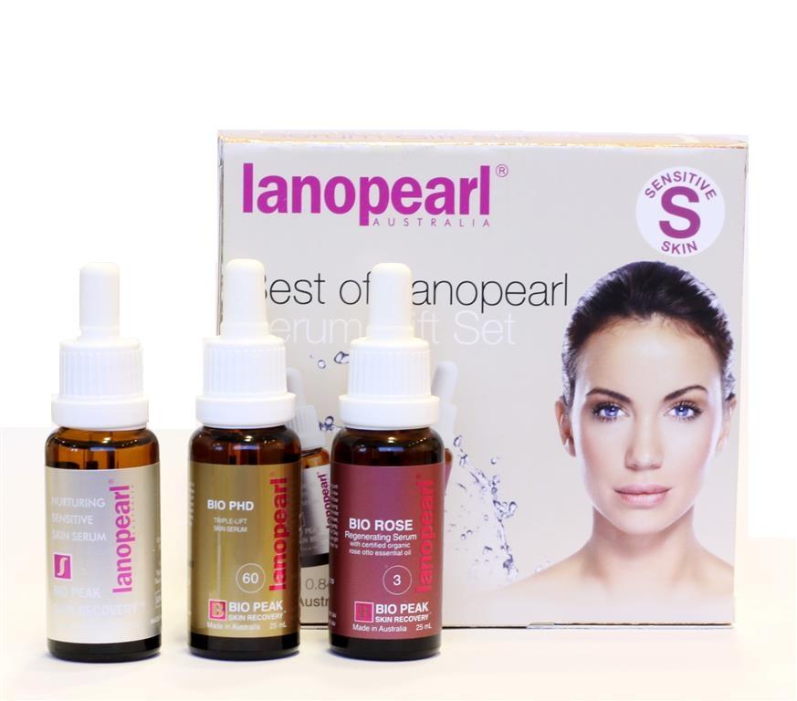 LANOPEARL Набор Сыворотки для зрелой кожи (питательная сыворотка 25 мл, лифтинг-эффект регенерирующая мл) / Best of Lanopearl