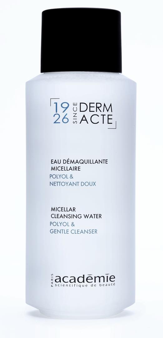 ACADEMIE Вода мицеллярная для демакияжа / DERM ACTE 250млЛосьоны<br>Без цветных агентов. Очень мягкая формула демакияжа (даже водостойкого) и тонизация без использования воды. Для области лица, шеи, декольте и деликатной зоны вокруг глаз. В результате чистая, свежая кожа с ощущением комфорта. Для всех типов кожи. Активные ингредиенты: полиолы 5%; мягкий очищающий агент 2%. Способ применения: пропитайте ватный тампон и нанесите на лицо и шею. Нет необходимости смывать.<br><br>Вид средства для лица: Мицеллярный