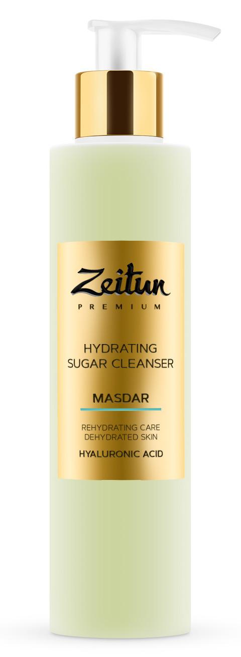 Купить ZEITUN Гель сахарный увлажняющий для умывания, с гиалуроновой кислотой / MASDAR 200 мл