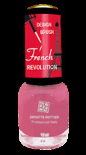 BRIGITTE BOTTIER Лак French Revolution тон FR 626 розовый / French Revolution 12млЛаки<br>Прекрасная новая революционная коллекция для дизайна ногтей, включая французский маникюр. Цветной лак с узкой дизайнерской кисточкой, удобной для&amp;nbsp;нанесения тончайших рисунков. &amp;nbsp;Помимо камуфляжных тонов &amp;nbsp;в качестве основного цветного покрытия можно использовать любой цветной лак из коллекций &amp;nbsp;Brigitte Bottier. Активные ингредиенты. Состав:&amp;nbsp;бутилацетат, этилацетат, нитроцеллюлоза, ацетил трибутил цитрат, адипиновая кислота/неопентил гликоль/триметиловый сополимер ангидрида, спирт изоприловый, стирол/ сополимер акрилат, стеаралкониум бетонит, силика, Н-бутиловый спирт, бензофенон-1, диацетоновый спирт, триметилпентанедил дибензоата, полиэтилен, фосфорная кислота. Способ применения: нанесите камуфляжный &amp;nbsp;лак - одно из двух &amp;nbsp;базовых &amp;nbsp;покрытий (Base Coat 620 или Base Coat 621) или любой цветной лак из коллекций Brigitte Bottier в 2 слоя, дайте высохнуть каждому слою. Нанесите рисунок цветным лаком &amp;nbsp;из коллекции French Revolution,дайте высохнуть.Нанесите Top Coat, дайте высохнуть. &amp;nbsp;Цвета палитры могут отличаться от оригиналов из-за настройки монитора Вашего компьютера.<br><br>Цвет: Розовые