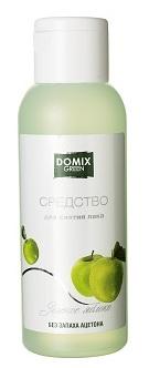 DOMIX Средство без запаха ацетона для снятия лака Зеленое яблоко / DG 105 мл