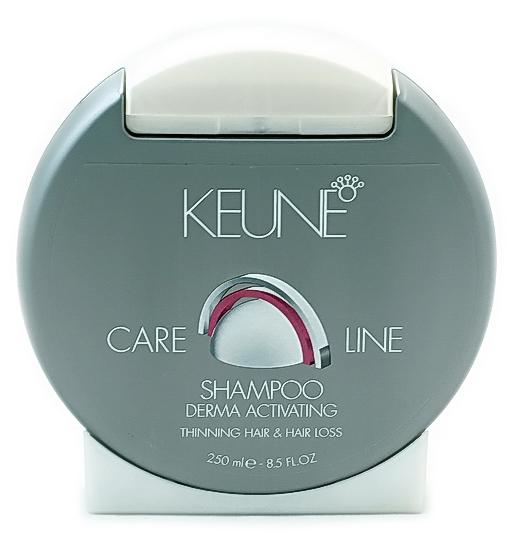 KEUNE Шампунь против выпадения Кэе Лайн / CL ACTIVATING SHAMPOO 250млШампуни<br>Действие: Шампунь для чувствительной кожи головы и тонких, склонных к выпадению волос. Обновляющий шампунь для чувствительной кожи головы и тонких волос, склонных к выпадению. В составе: Природные минералы, Биотин и Омолаживающая Технология предотвращают выпадение волос на ранних стадиях. Придает блеск, силу и объем волосам. Применение: Нанесите на влажные волосы и массируйте до образования пены. Смойте и повторите.<br><br>Объем: 250<br>Тип кожи головы: Чувствительная<br>Типы волос: Тонкие<br>Назначение: Выпадение