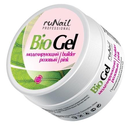 RuNail Биогель моделирующий, розовый 15 г - Особые средства