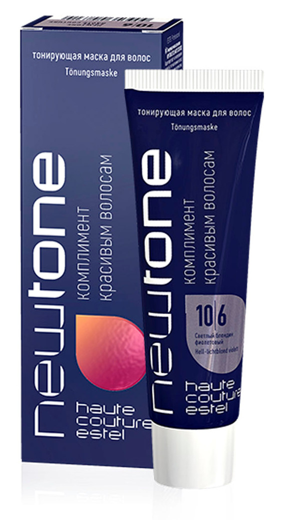 Купить ESTEL HAUTE COUTURE 10/6 маска тонирующая для волос, светлый блондин фиолетовый / NEWTONE 60 мл