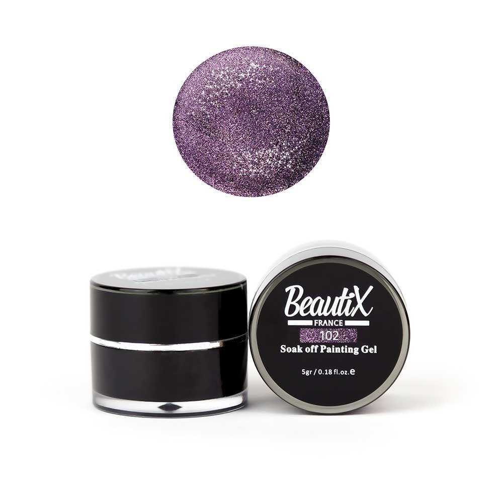 Купить BEAUTIX Глиттер мелкозернистый, 102 фиолетовый / Gel Painting Glitz 5 г