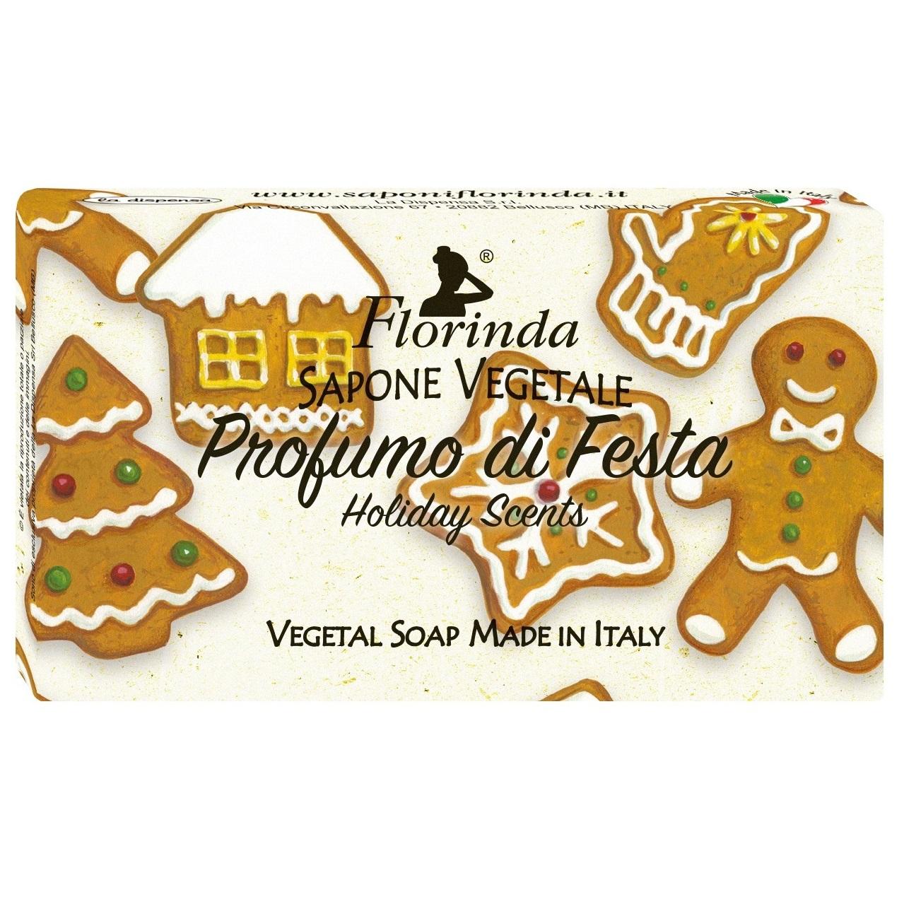 Купить FLORINDA Мыло растительное, праздничные ароматы / Profumo Di Fiesta 100 г