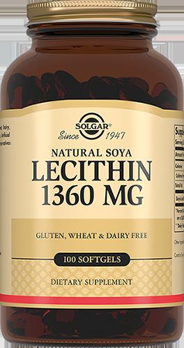 SOLGAR Натуральный соевый лецитин, капсулы 1360 мг № 100