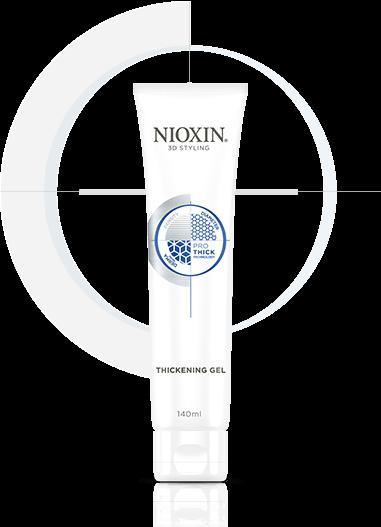 NIOXIN Гель для текстуры и плотности 150млГели<br>Гель помогает создать разные укладки, в т.ч. с четкими контурами на тонких коротких волосах или волосах средней длины, не утяжеляя и не склеивая их. Обеспечивает сильную фиксацию прическе. Полимерные микрочастицы, содержащиеся в составе средства, визуально увеличивают диаметр истонченных волос, придают им объемную текстуру с разглаживающим эффектом. NIOXIN 3D Стайлинг - новая линия укладочных средств. Дополняет трехступенчатые системы ухода NIOXIN по решению проблем тонких волос и является четвертым шагом на пути к густым и объемным волосам. Основа 3D Стайлинга Объем &amp;amp; Фиксация - современная технология Pro-Thick. Pro-Thick - комплекс уплотняющих полимерных микрочастиц, обволакивающих каждый волос невесомой оболочкой без утяжеления. Волосы визуально становятся объемнее и гуще. Кроме этого, между волосами образуются невидимые прочные и эластичные связи, которые сохраняют объем и форму прически. Протестирован дерматологами. Активные ингредиенты: современная технология Pro-Thick - комплекс уплотняющих полимерных микрочастиц, обволакивающих каждый волос невесомой оболочкой без утяжеления. Способ применения: распределите на ладонях 3 см геля и нанесите на влажные волосы. Уложите волосы феном, создайте желаемый стиль.Средства Линии 3D Стайлинг рекомендуется совмещать с препаратами трехступенчатой системы NIOXIN для усиления действия и пролонгации их активных компонентов.<br><br>Типы волос: Тонкие