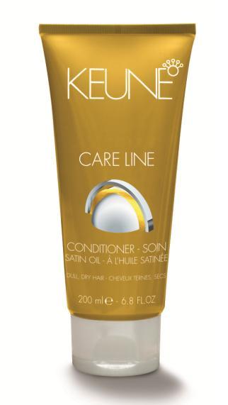 KEUNE Кондиционер Кэе Лайн Шелковый уход / CL SATIN OIL CONDITIONER 200млКондиционеры<br>Кондиционер для тусклых и сухих волос. Инновационная невесомая формула двойной технологии из минералов и смеси эфирных масел придает волосам здоровый вид, блеск, мягкость, сияние, а также прекрасно увлажняет волосы изнутри. Результат - сильные, здоровые и шелковистые волосы. Активные ингредиенты: природные минералы, провитамин В5, масло маракуйи, масло сладкого миндаля, масло маной, масло янгу, масло семян папайи.Способ применения: нанести на волосы, просушенные полотенцем. Оставить на 1-3 минуты. Тщательно промыть.<br><br>Назначение: Секущиеся кончики