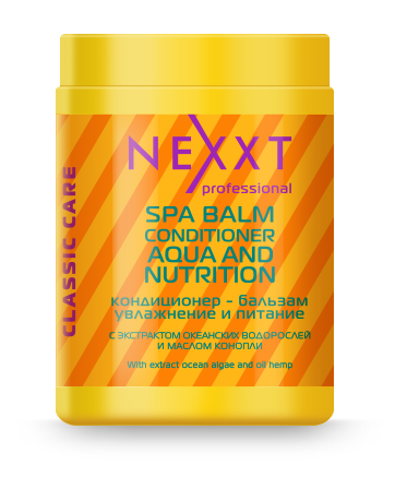 NEXXT professional Кондиционер-бальзам Увлажнение и питание / SPA BALM-CONDITIONER AQUA and NUTRITION 1000 мл
