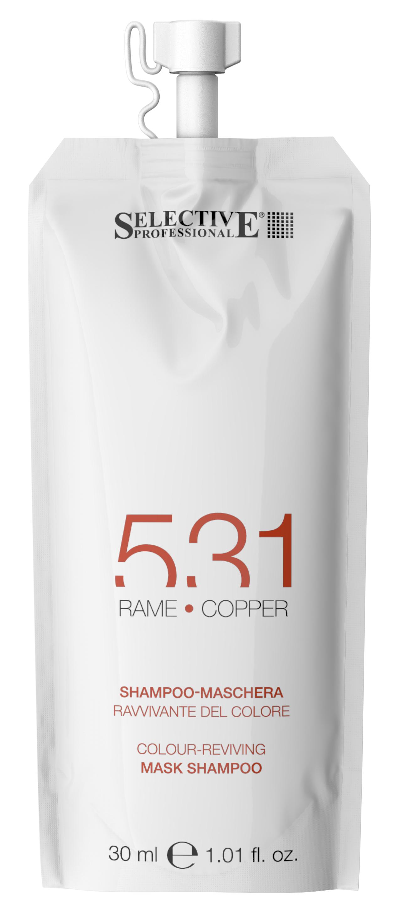 Купить SELECTIVE PROFESSIONAL Шампунь-маска для возобновления цвета волос 531, медный 30 мл