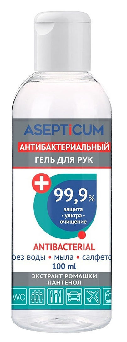 ASEPTICUM Гель антибактериальный для рук, флакон / ASEPTICUM 100 мл