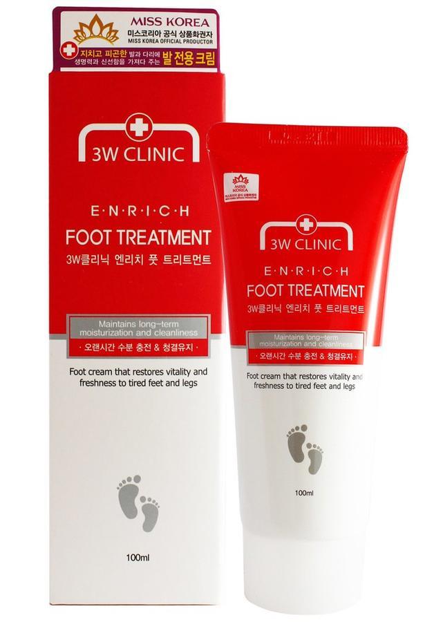Купить 3W CLINIC Крем для ног лечебный и питательный для ног / Enrich 100 мл
