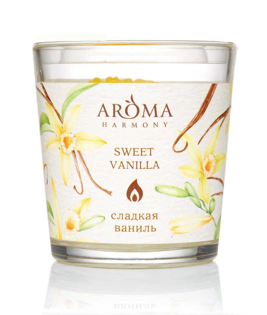 Купить AROMA HARMONY Свеча ароматическая Сладкая ваниль 160 г