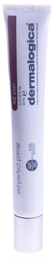 DERMALOGICA Праймер Идеальный SPF30 / Skin Perfect Primer AGE SMART 22млОсобые средства<br>Идеальный праймер spf 30 Skin Perfect Primer SPF 30 разглаживает поверхность кожи и подготавливает ее к нанесению макияжа, выравнивает тон кожи и обеспечивает стойкость макияжа на длительное время. До настоящего времени большинство праймеров обладали либо косметическими свойствами, либо свойствами ухода за кожей. Идеальный праймер с успехом объединяет в себе оба этих преимущества. Благодаря использованию праймера макияж держится гораздо дольше, а тонкие линии и морщинки не будут более заметными после нанесения макияжа.  Силиконовая основа праймера смягчает кожу и придает ощущение бархатистости, натуральные минералы и гидролизированный жемчуг выравнивают цвет кожи, придавая ей сияние и гарантируя безупречный внешний вид. Кремний улучшает сцепление макияжа с кожей, абсорбирует кожное сало и заполняет тонкие линии. Полимеры подготавливают кожу и обеспечивают легкий матовый эффект, продлевая стойкость макияжа.  Праймер обладает также космоцевтическими свойствами: белый чай защищает кожу от свободных радикалов, пептиды укрепляют, защищают от гликозилирования, ингибируют активность металлопротеиназ и стимулируют продукцию коллагена. Гиалуроновая кислота увлажняет и смягчает, солнцезащитные фильтры обеспечивают защиту от повреждающих УФ-лучей.  Активные ингредиенты: Гидролизированный жемчуг, кремний, пептиды, гиалуроновая кислота, УФ-фильтры.  Способ применения: Используйет праймер непосредственно перед нанесением макияжа.<br><br>Тип: Праймер<br>Вид средства для лица: Силиконовое
