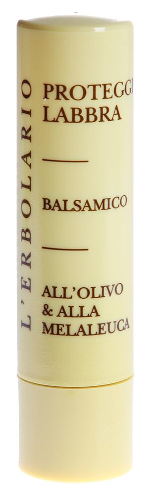LERBOLARIO Бальзам для губ защитный 4,5 млБальзамы для губ<br>Защитный бальзам для губ от L`Erbolario с оливковым маслом и маслом чайного дерева для нежной кожи губ, склонной к растрескиванию. Он обладает сильным антисептическим и защитным действием, а также успокаивает и смягчает губы, создавая на их поверхности тонкую плёнку предотвращающую испарение влаги и препятствующую проникновению бактерий.  Активные ингредиенты: Неомыляющаяся фракция Оливкового масла &amp;ndash; успокаивает и смягчает, предохраняет кожу от увядания и появления морщин. Масло Чайного дерева   обладает сильным антисептическим, дезинфицирующим и дезодорирующим действием; Витамин Е   способствует поддержанию эластичности кожи.  Способ применения: Наносите бальзам на губы каждый раз, когда чувствуете необходимость защитить либо смягчить их. Хранить карандаш следует при комнатной температуре, так как сильная жара может размягчить его, а холод приводит к затвердеванию, затрудняя использование продукта.<br><br>Вид средства для лица: Защитный<br>Назначение: Морщины