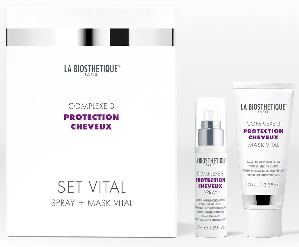 LA BIOSTHETIQUE Дуэт витализирующий с мощным молекулярным комплексом защиты волос / Set Vital PROTECTION CHEVEUX COMPLEX 50 + 100 мл - Наборы