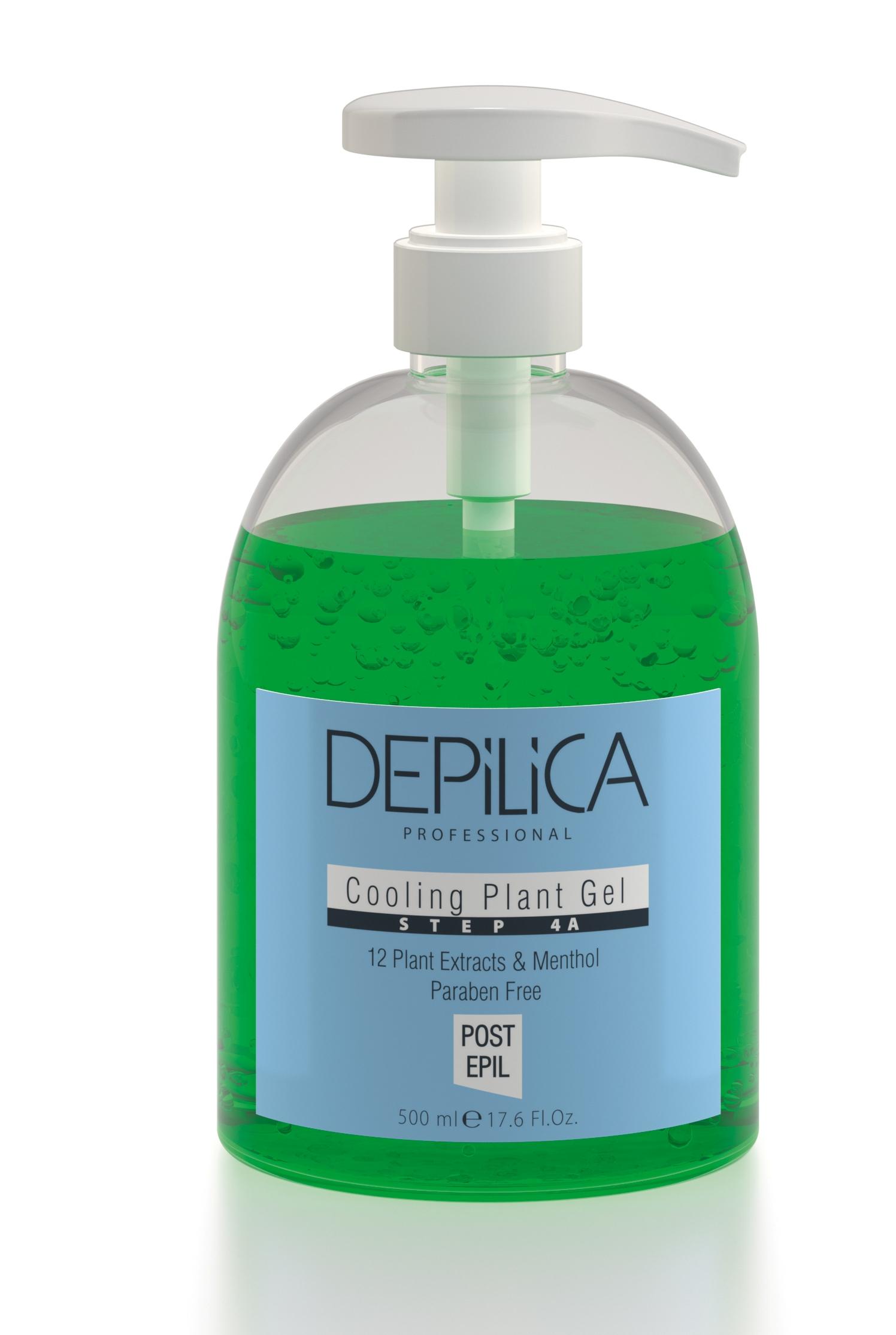 DEPILICA PROFESSIONAL Гель охлаждающий растительный Шаг 4А / Cooling Plant Gel Step 4A 500млГели<br>Содержит комплекс из 12 растительных экстрактов и ментола. Успокаивает и охлаждает кожу после удаления волос, устраняет дискомфорт, предотвращает покраснения и раздражения. Обладает гелевой текстурой. Идеален даже для чувствительной кожи.<br><br>Вид средства для тела: Охлаждающий<br>Типы кожи: Чувствительная