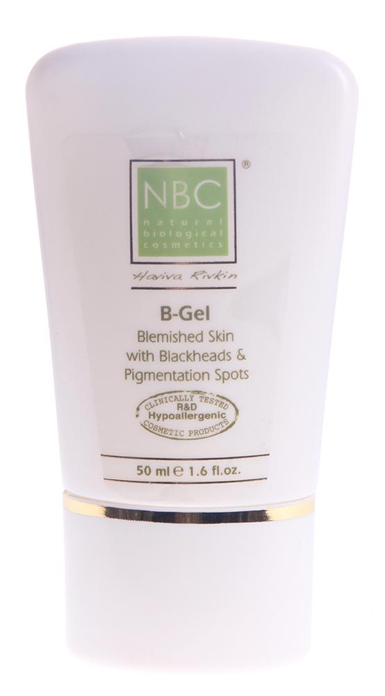 NBC Haviva Rivkin Гель для проблемной кожи / B-Gel for Skin Blemished 50млГели<br>B-Gel - революционное средство против акне, в различных его формах. Проникает вглубь кожи, дезинфицирует ее, способствует быстрой регенерации, повышает гидратационную способность кожи. Абсорбирует кожное сало, стягивает поры.Активные ингредиенты: глицерин, экстракт тимьяна, экстракт перечной мяты, карбомер.Способ применения: применяется для достижения отличных результатов после лечения лосьоном Lotion for Blemished Skin. Утром и вечером небольшое количество наносить тонким слоем до впитывания. В косметологическом кабинете применять, как завершающий этап процедуры мануальной чистки жирной, проблемной кожи, акне.<br><br>Назначение: Акне, постакне