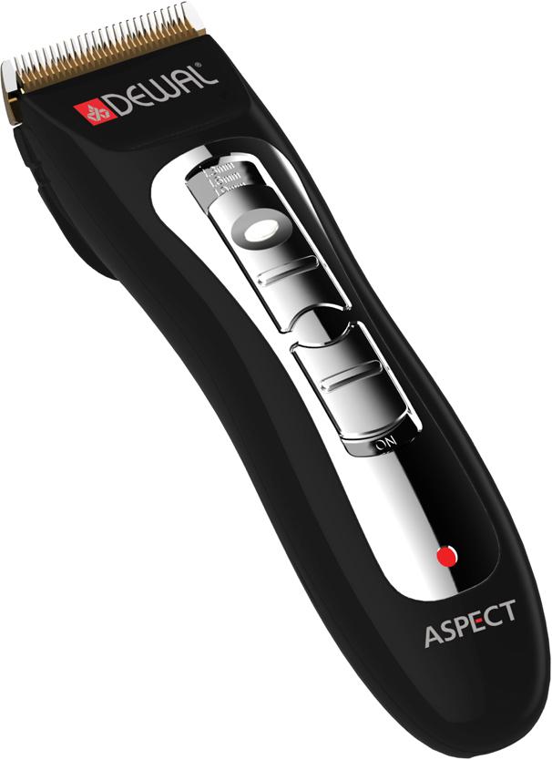 DEWAL PROFESSIONAL Машинка для стрижки Aspect, 1-1.9 мм, аккумуляторно-сетевая, 4 насадки