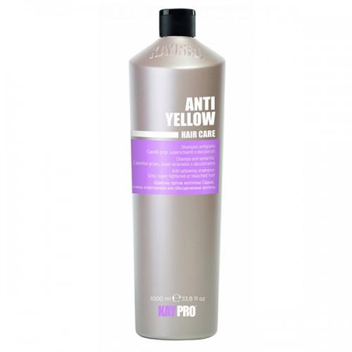 KAYPRO Шампунь оттеночный против желтизны / KAYPRO 1000млШампуни<br>ШАМПУНЬ ПРОТИВ ЖЕЛТИЗНЫ ДЛЯ ОСВЕТЛЕННЫХ И СЕДЫХ ВОЛОС. Фиолетовый пигмент притупляет желтые рефлексы, нежелательные на осветленных волосах. Придает блеск седым волосам. Активные ингредиенты: содержит экстракт вина и протеины шелка. Способ применения: нанести на мокрые волосы, помассировать, оставить действовать на 1-5 минут, эмульсировать и смыть водой. Повторить процедуру в случае необходимости<br><br>Цвет: Блонд<br>Объем: 1000 мл<br>Вид средства для волос: Оттеночный<br>Типы волос: Седые