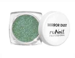 RuNail Пыль зеркальная для втирки с аппликатором (цвет зеленый), 1 г